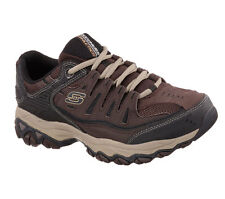 50125 Brown Skechers Shoes Eww 4e Wide Width Big & Tall Men Memory Foam Leather