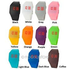 Student Kid Ultra-thin Touch Screen Digital LED Silicone Jelly Sport Watch Cool