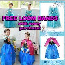 FROZEN ANNA ELSA PRINCESS DISNEY KIDS COSTUME PARTY FANCY GIFT DRESS/CROWN TIARA