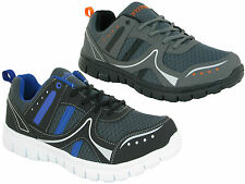 NEW MENS TEXTILE UPPER CASUAL LACE UP SPORTS  GYM RUNNING WALKING SHOES SIZE