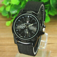Mens Watches Quartz Stainless Steel Analogue Sports Wrist Watch New Army