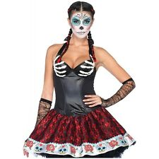 Bony Skeleton Hands Corset Top Dia de Muertos Day of the Dead Halloween Costume
