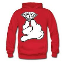 "Sick Hoodies ""Tumblr Mickey Mouse hands holding diamond"" Red Hoodie, Swag"