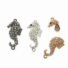 1 Rhinestone Diamante Sea Horse Magnetic Clasp For Jewellery Making and Beading