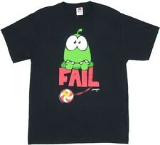 Adult Black ZeptoLab Puzzle Video Game Cut the Rope Fail Om Nom T-shirt Tee