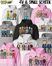 VIPwees Unisex Hoodie TV & Small Screen Inspired Caricatures Choose Your Design