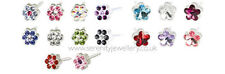 Hypoallergenic Blomdahl medical plastic daisy flower stud earrings nickel free