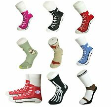 Mens Socks Silly Converse Novelty Sneakers Trainer Cotton Size 5 11 Joke Fun