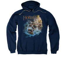 The Hobbit Desolation of Smaug Movie Barreling Down Adult Pull-Over Hoodie