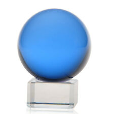 Asian Natural Quartz Blue Magic Crystal Healing Ball Sphere 40mm-80mm + Stand