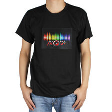 Sound-activated LED Detachable EL Panel Light Music T-Shirt for Party / Dance