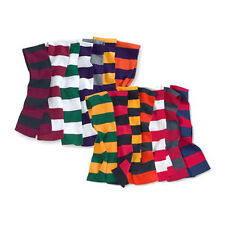 Sportsman Rugby Striped Knit Scarf, 20 high school & college Colors (SP02)