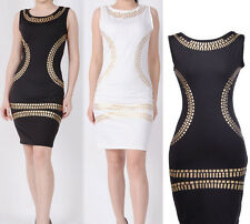 Black White Women's Summer 0-neck sexy Day Dress Stretch Bodycon Dress Plus Size