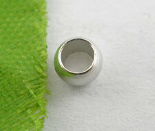Wholesale HOT! Jewelry Silver Tone Crimp Beads 4mm Dia.