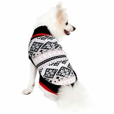 Blueberry Pet Clothes Nordic Pattern Inspired Fair Isle Snowflakes Dog Sweater