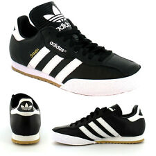 Adidas Original Mens Samba Super Trainers Shoes Black/White