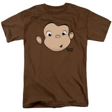 Curious George Monkey Childrens Book Character George Face Adult T-Shirt Tee