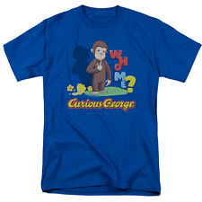 Curious George Monkey Tv Show Movie Animated Childrens Book Who Me Adult Tshirt