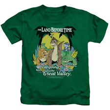 The Land Before Time Animated Dinosaur Movie Great Valley Juvenile T-Shirt Tee