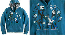 JACK AND SALLY HOODIE FOR WOMEN ~DISNEY STORE~ THE NIGHTMARE BEFORE CHRISTMAS