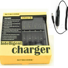 NiteCore i4 Intellicharge Battery Charger CR123A 26650 18650 AA/AAA +Car Charger