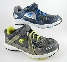 New Clarks Active Air Trainers Sports Shoes Leather & Mesh Unisex Grey Velcro