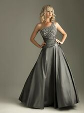 2014 NEW Charcoal Beaded A-line Evening/Sheath/Ballgown/Party/Prom Dress SZ4-14