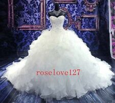 New Wedding Dress Customize Embroidery Bride Beads Draped 2 4 6 8 10 12 14 16 18