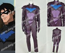 Young Justice Cosplay Nightwing Jumpsuit Halloween Party Outfit Whole Set New