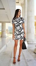 BNWT Zara Black White Floral Printed Dress Size S M L