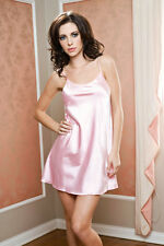 ICOLLECTION Sexy Women's LINGERIE 7916 Satin chemise