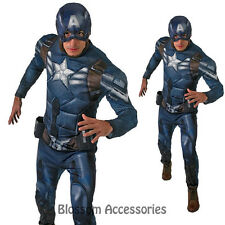C963 Mens Captain America Winter Soldier Superhero Hero Halloween Adult Costume