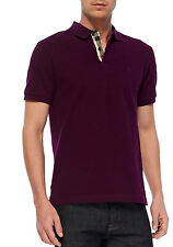 Burberry Brit Slim Fit Short Sleeve Dark Purple Polo S to XXL