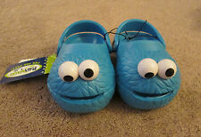 NEW POLLIWALKS SESAME STREET COOKIE MONSTER CLOGS Kids Shoes Crocs Blue 7,8,9,10