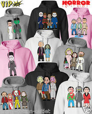 VIPwees Unisex Hoodie Horror Movie Inspired Caricatures Choose Your Design