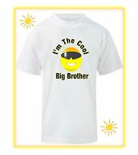 Boys Personalised T Shirt  Big Brother for New Baby Sister or Baby Brother