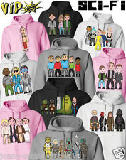VIPwees Unisex Hoodie Sci-Fi Movie Inspired Caricatures Choose Your Design