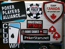 POKER IRON ON PATCH POKERSTARS WPT WSOP HIGH STAKES BETFAIR HI STAKES PLAYERS AL