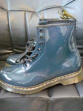 Dr. Doc Martens Navy Patent Mens Womens Boots Air Wear MSRP $120 NEW FREE SHIP