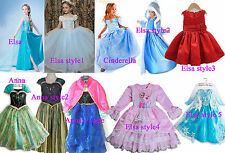 Disney Frozen Elsa dress costume Princess Anna party dresses