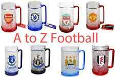 ALL OFFICIAL FOOTBALL CLUB CREST FREEZER TANKARD ICE MUG CUP BEER PINT GIFT XMAS