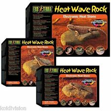 EXO TERRA HEAT WAVE ROCK S M L ELECTRONIC REPTILE ROCK THERMO CONTROLLED HEATER