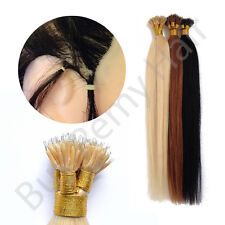 """20"""" Nano Tip Remy Hair Extensions 1 Gram Strands  Use With Nano rings Off Black"""