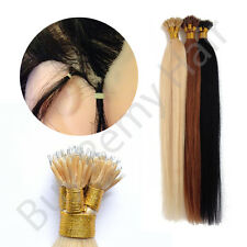 """20"""" Nano Tip Remy Hair Extensions 1 Gram Strands  Use With Nano rings Dark Brown"""