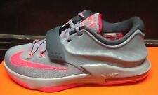 """Nike KD 7 VII GS """"CALM BEFORE THE STORM"""" Grey Red 653996-060 Sz 5C-7y TD WTKD PS"""