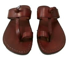Jesus Sandals Brown Leather Roman Flats from Holy Land For Men & Women Size 5-12