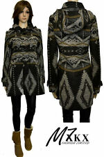 Womens Coat Duffle Jacket High Quality Wool Aztec Print Paterned Size 4-12 New