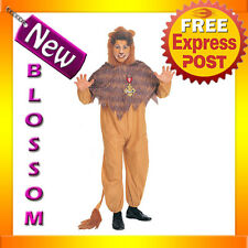 C703 The Wizard of Oz Cowardly Lion Fancy Dress Mens Adult Costume