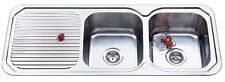 New Ariette 1180mm Double Bowl Stainless Steel Kitchen Sink from Mr Sink