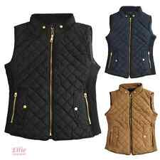 Women's Quilted Padded Vest black/cognac/navy Sizes S/M/L/XL/2XL/3XL